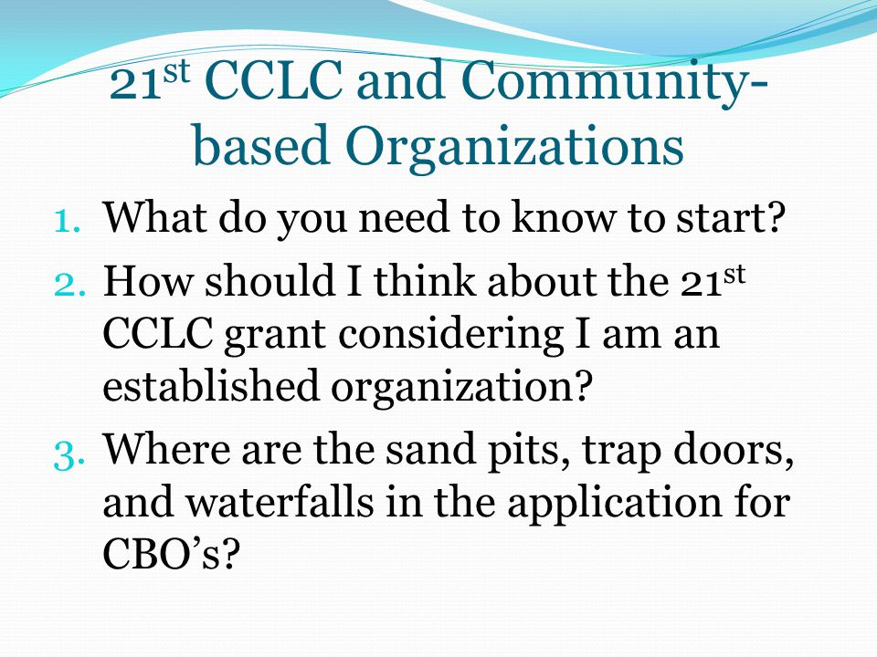 21st CCLC and Community-based Organizations