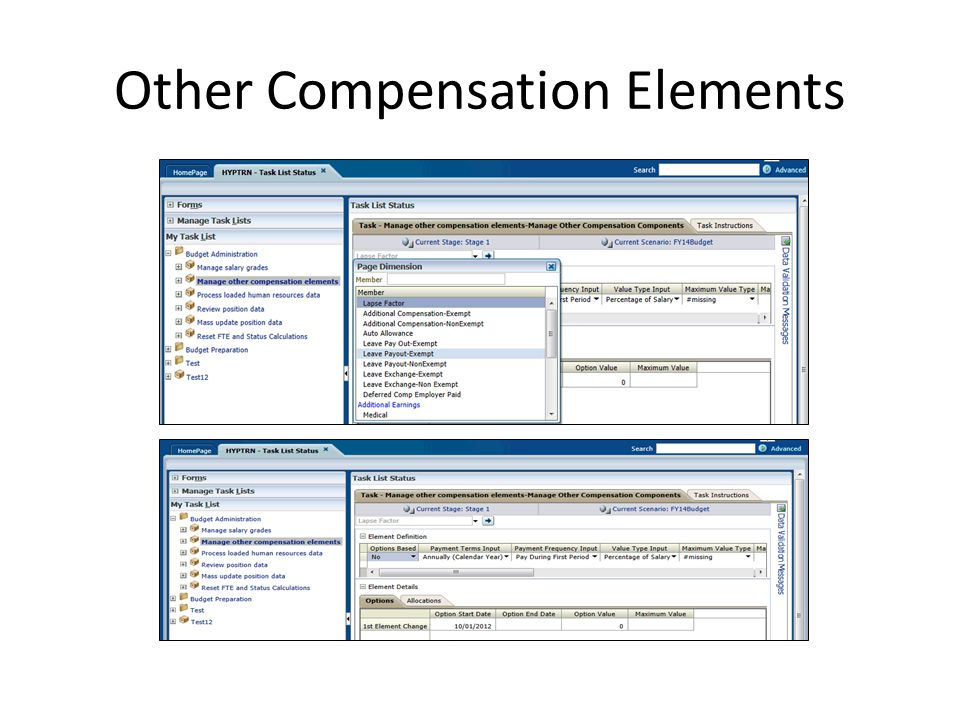 Other Compensation Elements