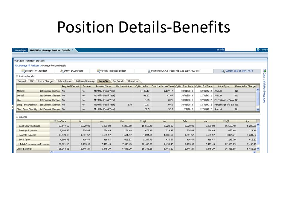 Position Details-Benefits