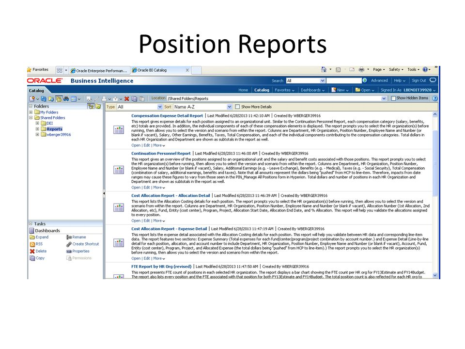 Position Reports
