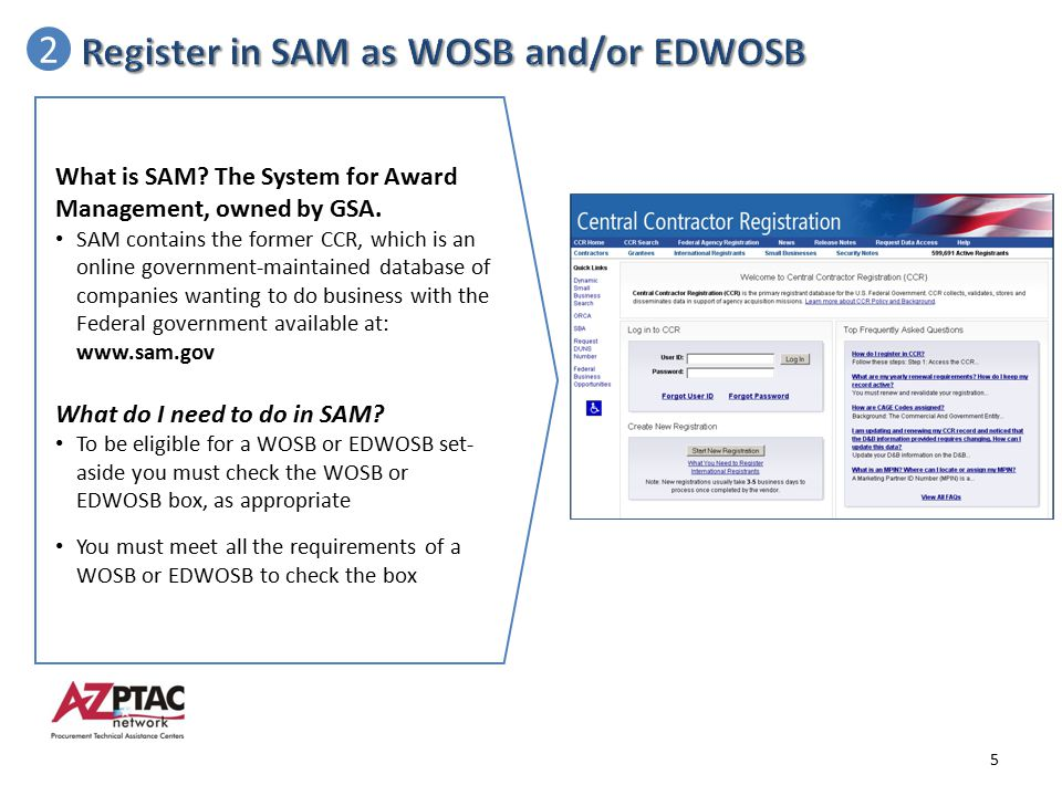 Register in SAM as WOSB and/or EDWOSB 2