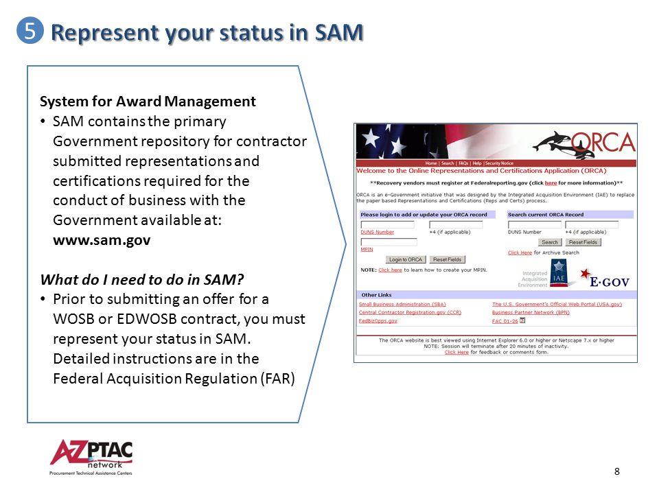 Represent your status in SAM 5
