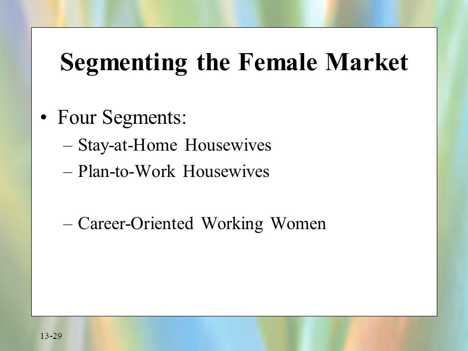 Segmenting the Female Market