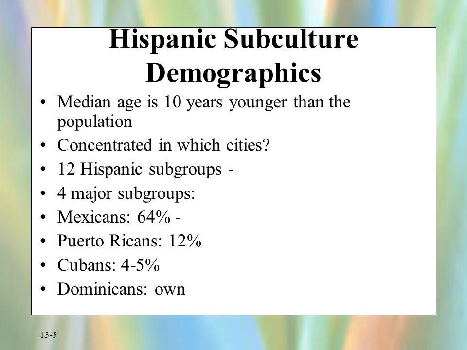 Hispanic Subculture Demographics
