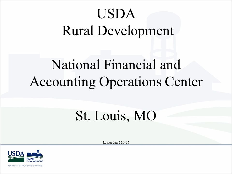 1 USDA Rural Development ...
