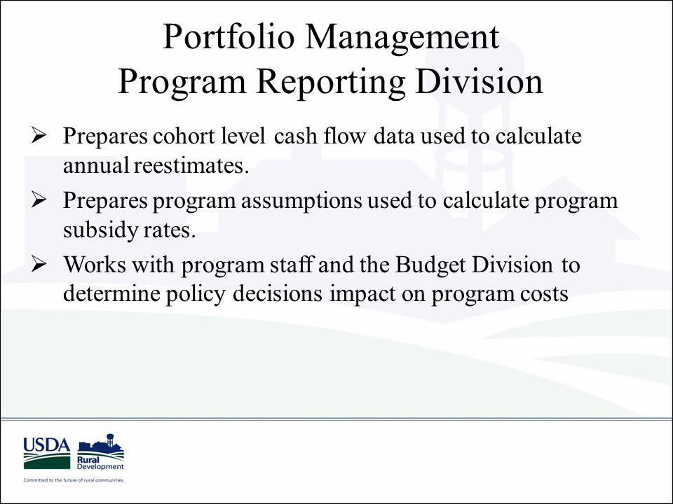 Portfolio Management Program Reporting Division