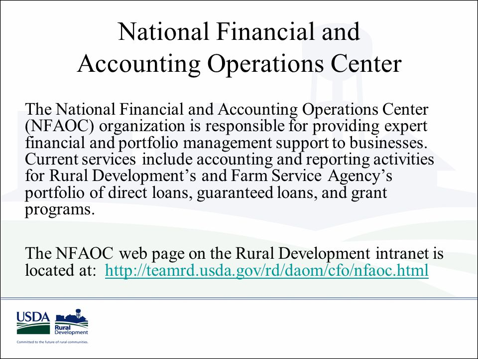 National Financial and Accounting Operations Center
