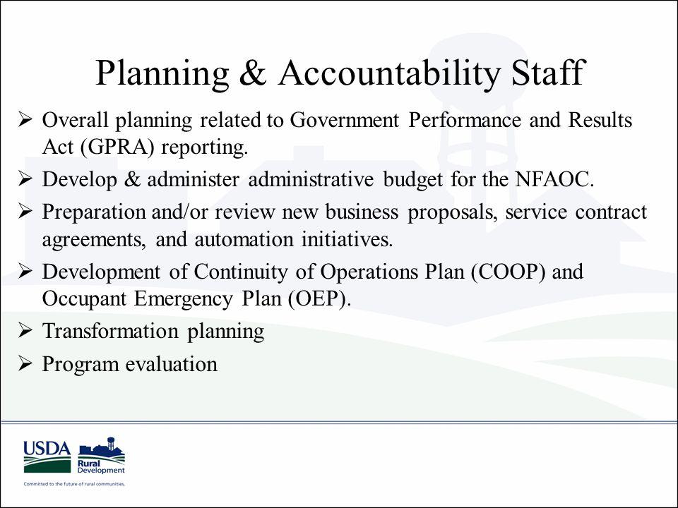 Planning & Accountability Staff