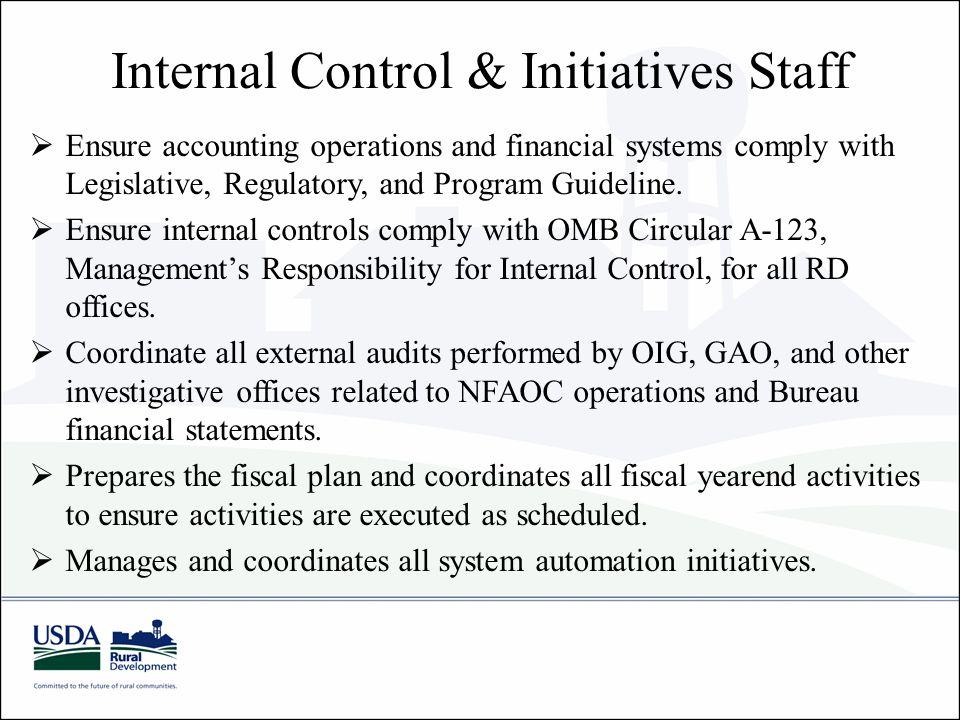 Internal Control & Initiatives Staff