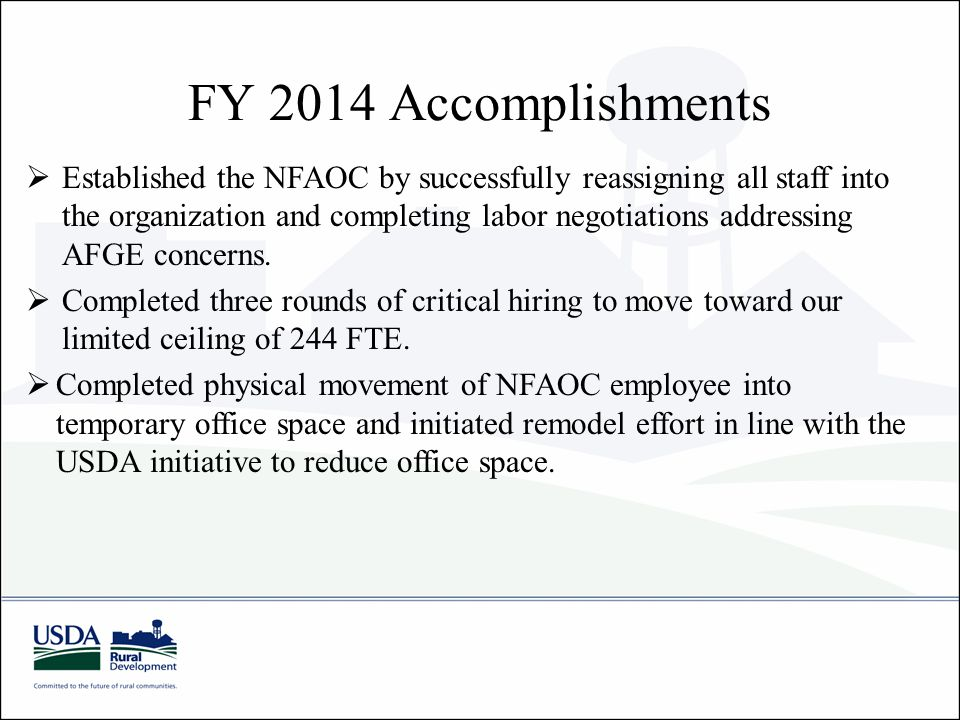 FY 2014 Accomplishments