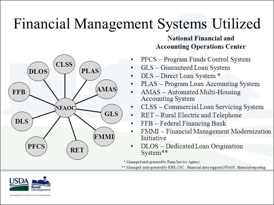Financial Management Systems Utilized