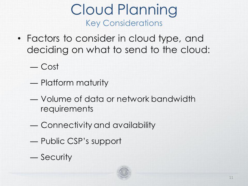 Cloud Planning Key Considerations