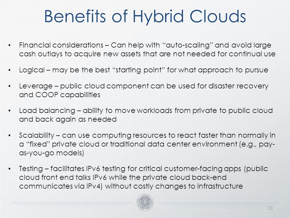 Benefits of Hybrid Clouds