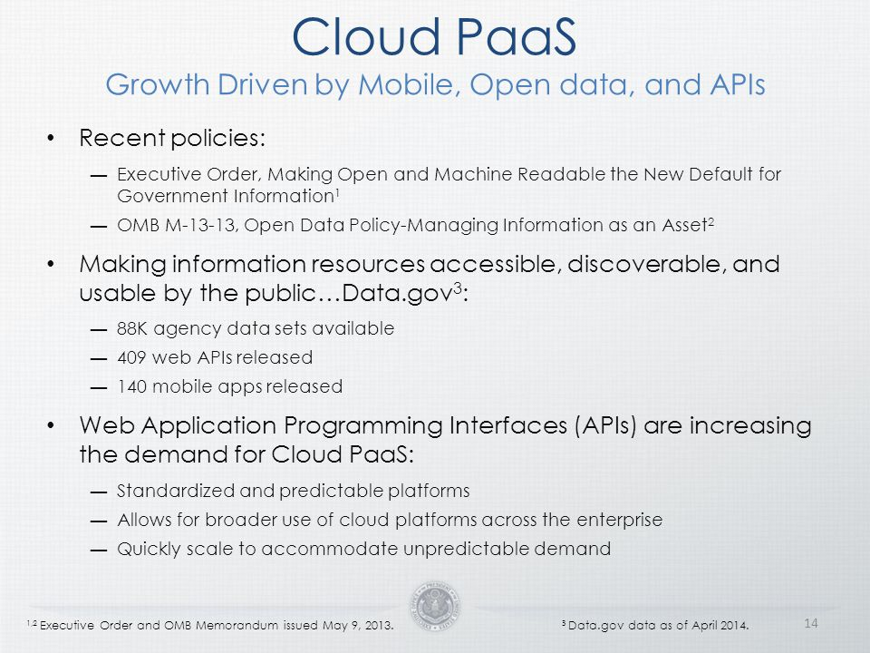Cloud PaaS Growth Driven by Mobile, Open data, and APIs