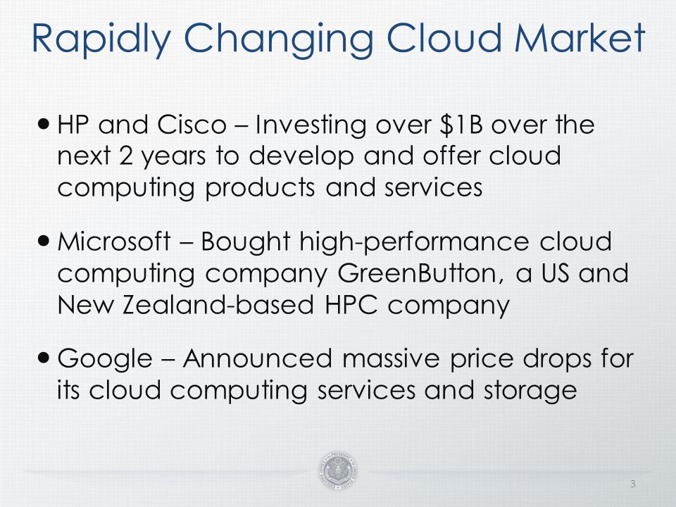 Rapidly Changing Cloud Market