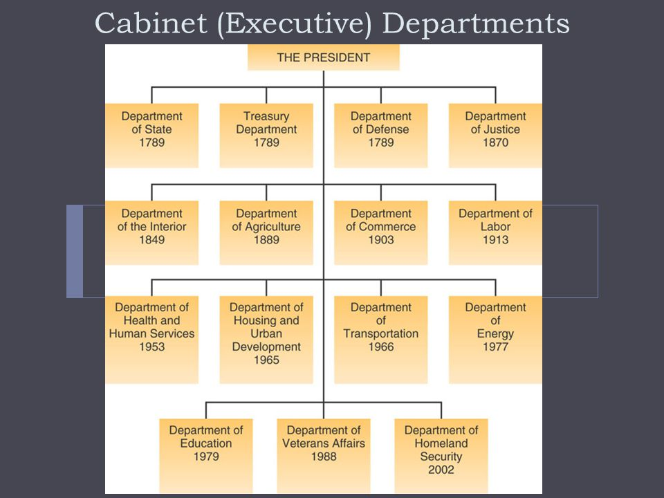 Cabinet (Executive) Departments