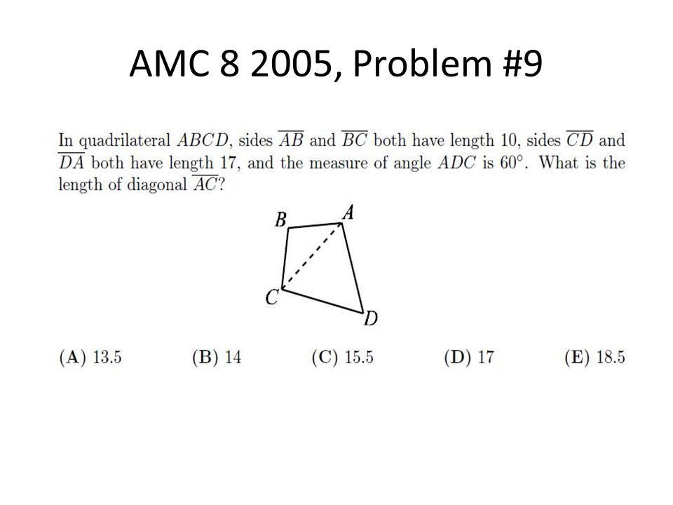 AMC 8 2005, Problem #9