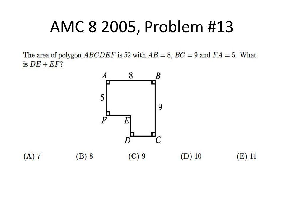 AMC 8 2005, Problem #13