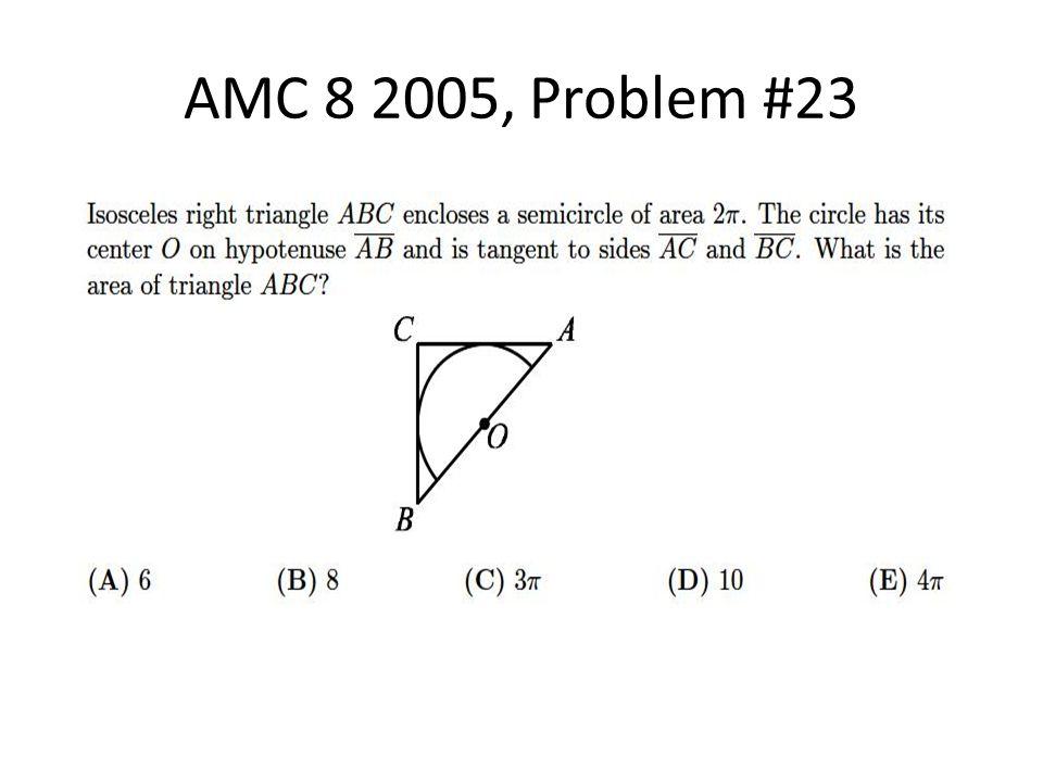 AMC 8 2005, Problem #23
