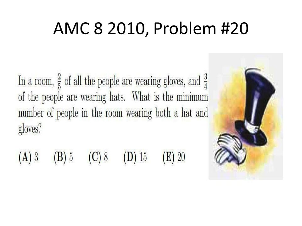 AMC 8 2010, Problem #20