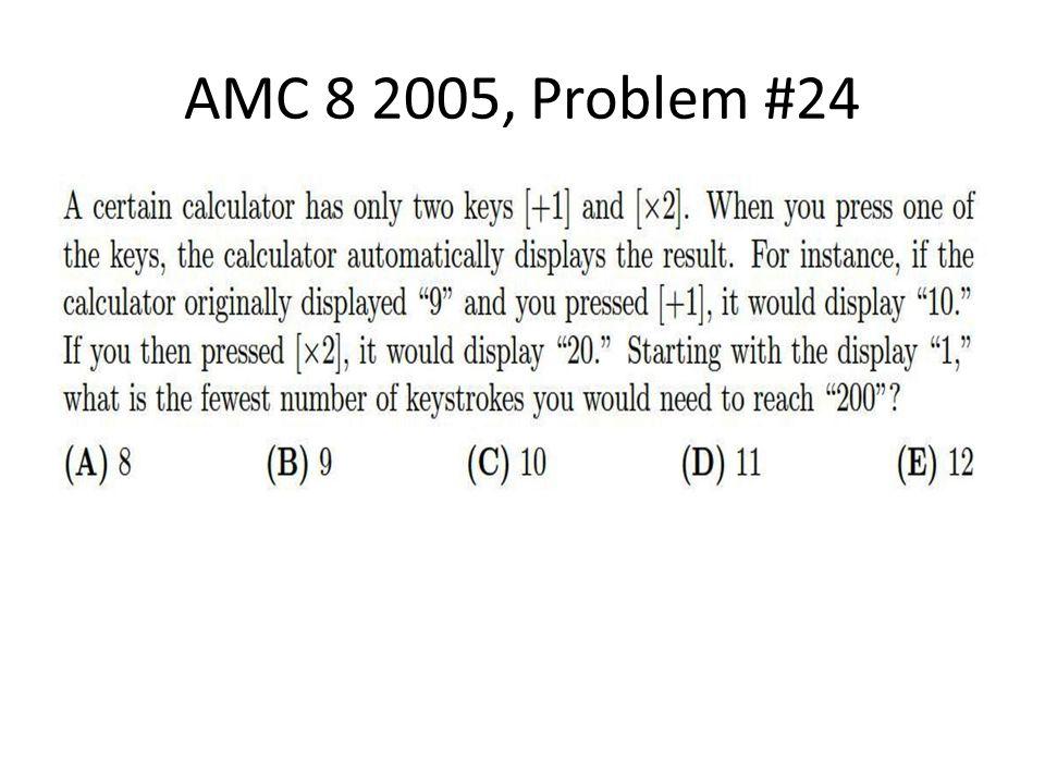 AMC 8 2005, Problem #24