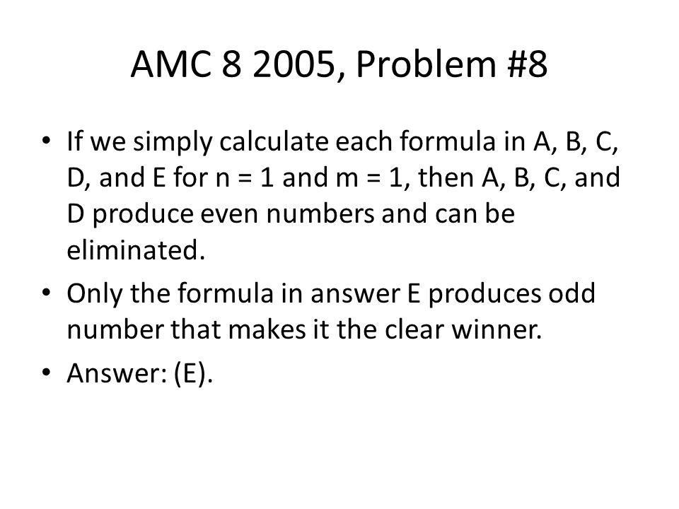 AMC 8 2005, Problem #8