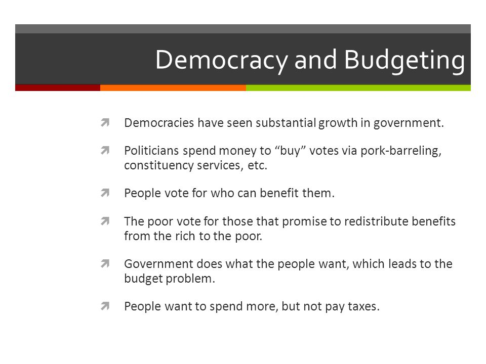 Democracy and Budgeting