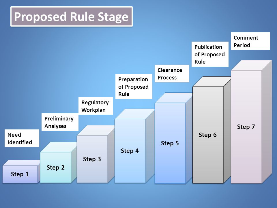 Proposed Rule Stage Step 7 Step 6 Step 5 Step 4 Step 3 Step 2 Step 1