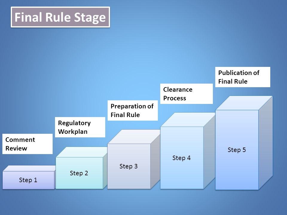 Final Rule Stage Publication of Final Rule Clearance Process