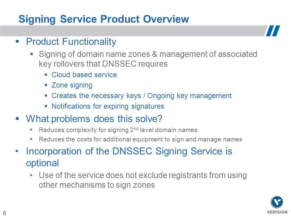 Signing Service Product Overview