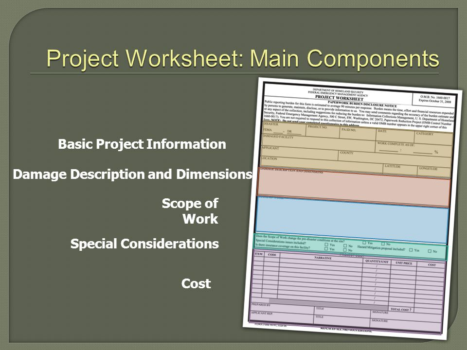 Project Worksheet: Main Components
