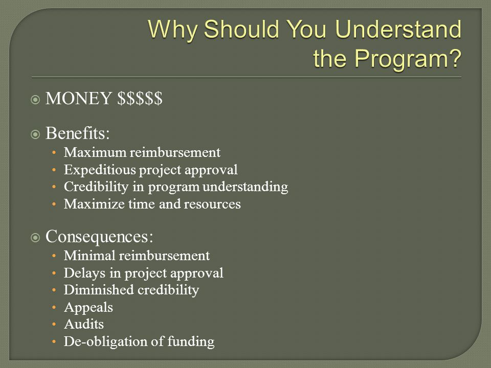 Why Should You Understand the Program