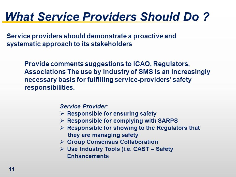 What Service Providers Should Do