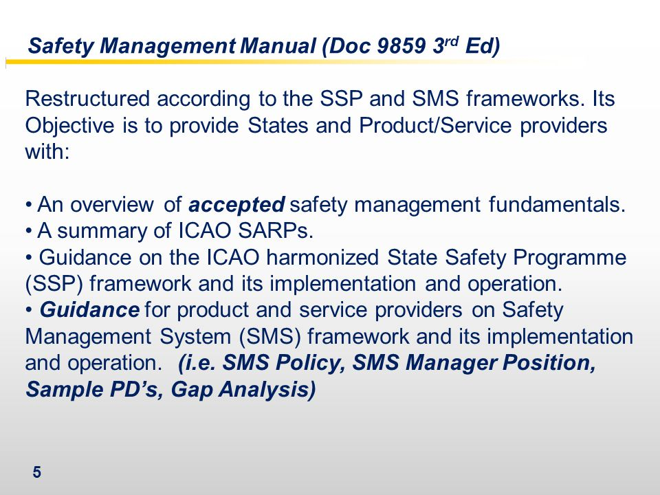 Safety Management Manual (Doc 9859 3rd Ed)