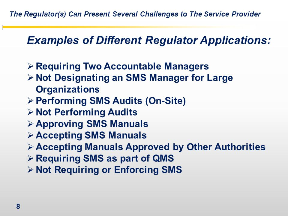 Examples of Different Regulator Applications: