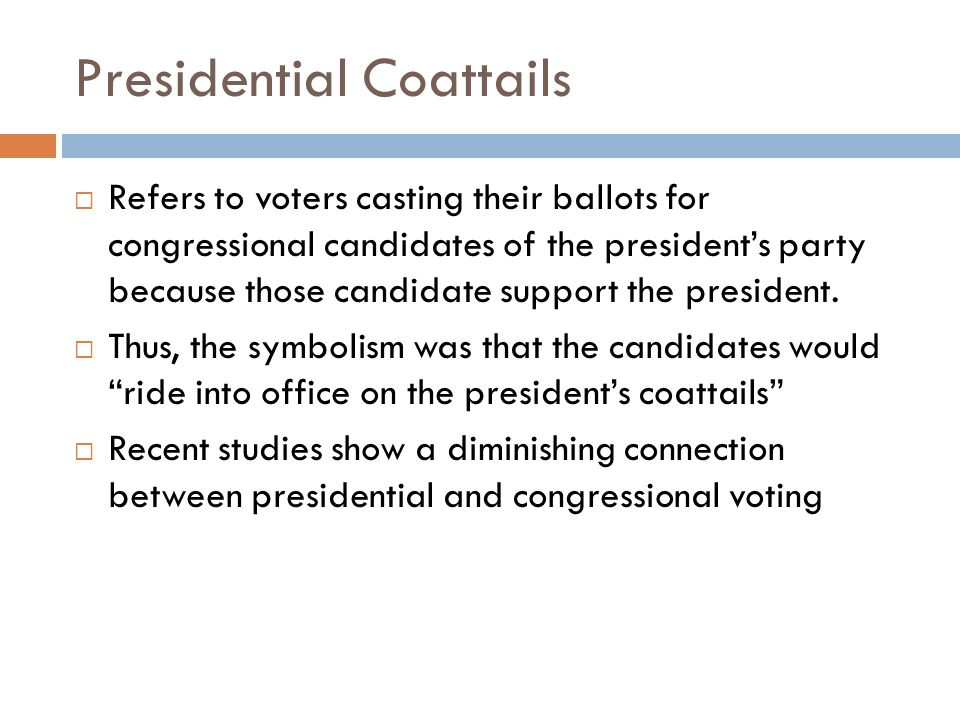 Presidential Coattails