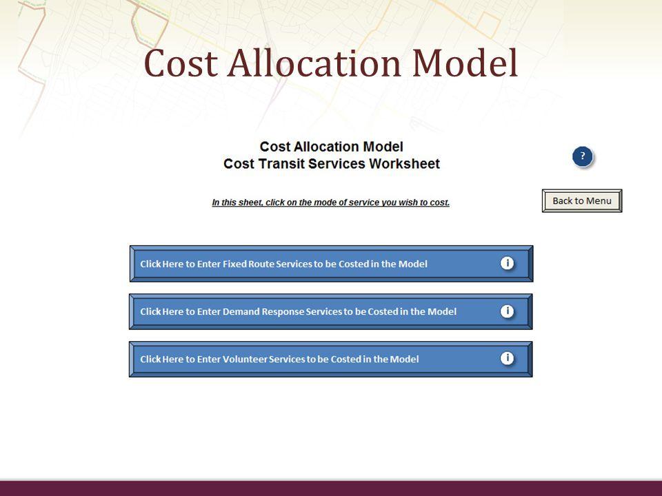 Cost Allocation Model
