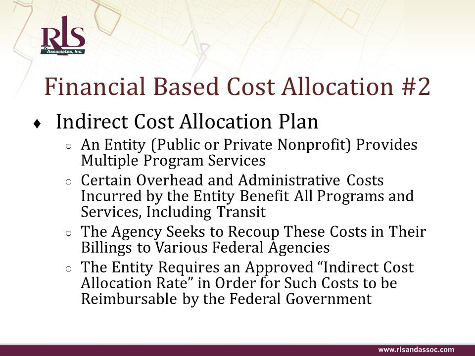 Financial Based Cost Allocation #2