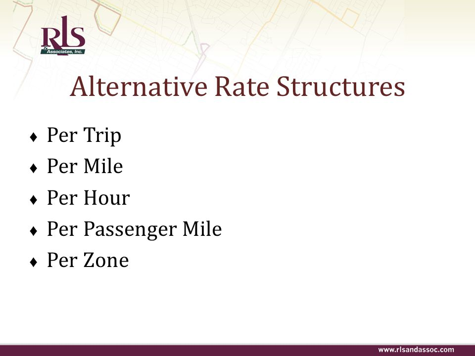 Alternative Rate Structures