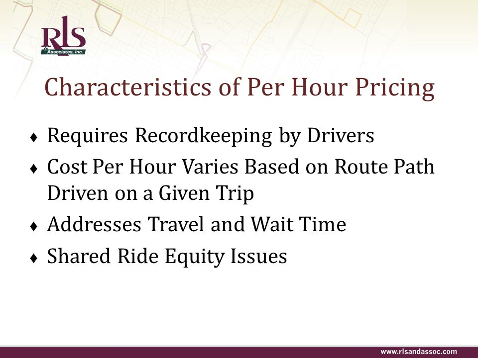Characteristics of Per Hour Pricing