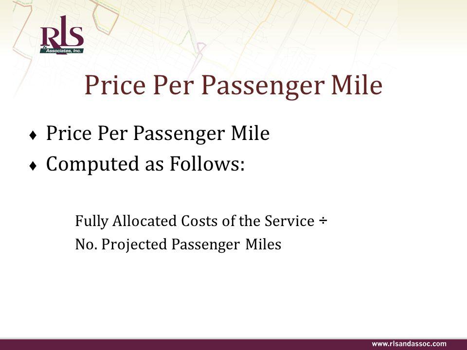 Price Per Passenger Mile