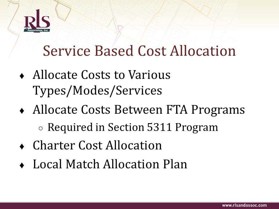 Service Based Cost Allocation