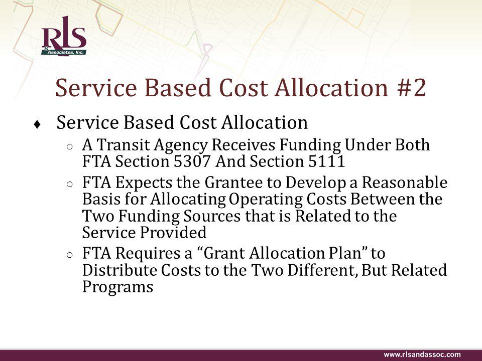 Service Based Cost Allocation #2