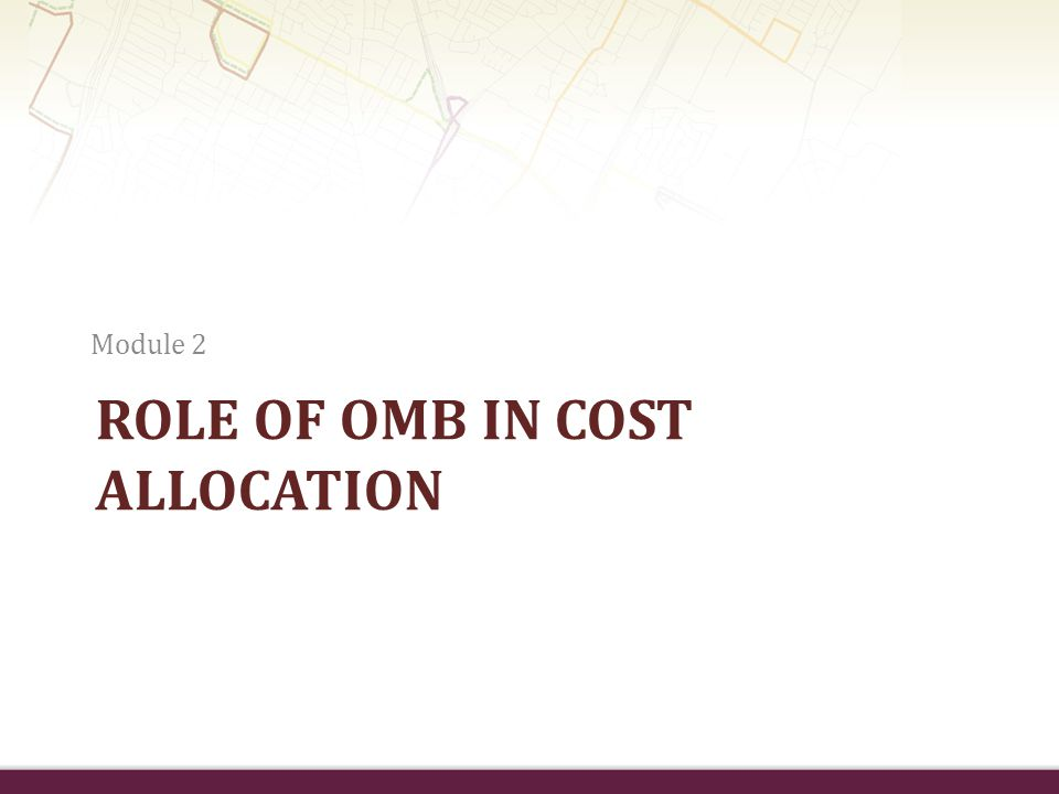 Role of OMB in Cost Allocation