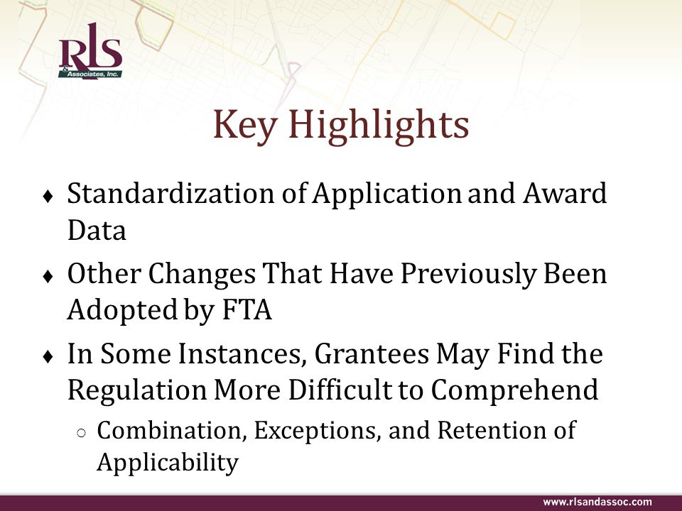 Key Highlights Standardization of Application and Award Data