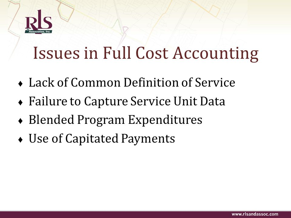 Issues in Full Cost Accounting