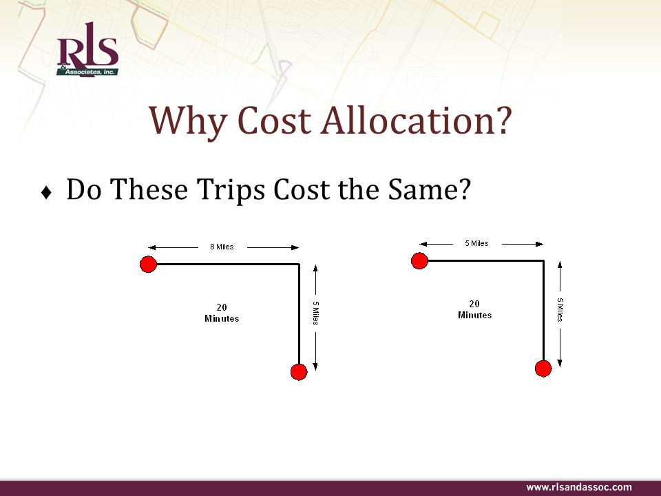 Why Cost Allocation Do These Trips Cost the Same