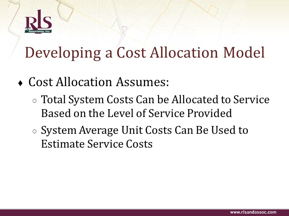 Developing a Cost Allocation Model