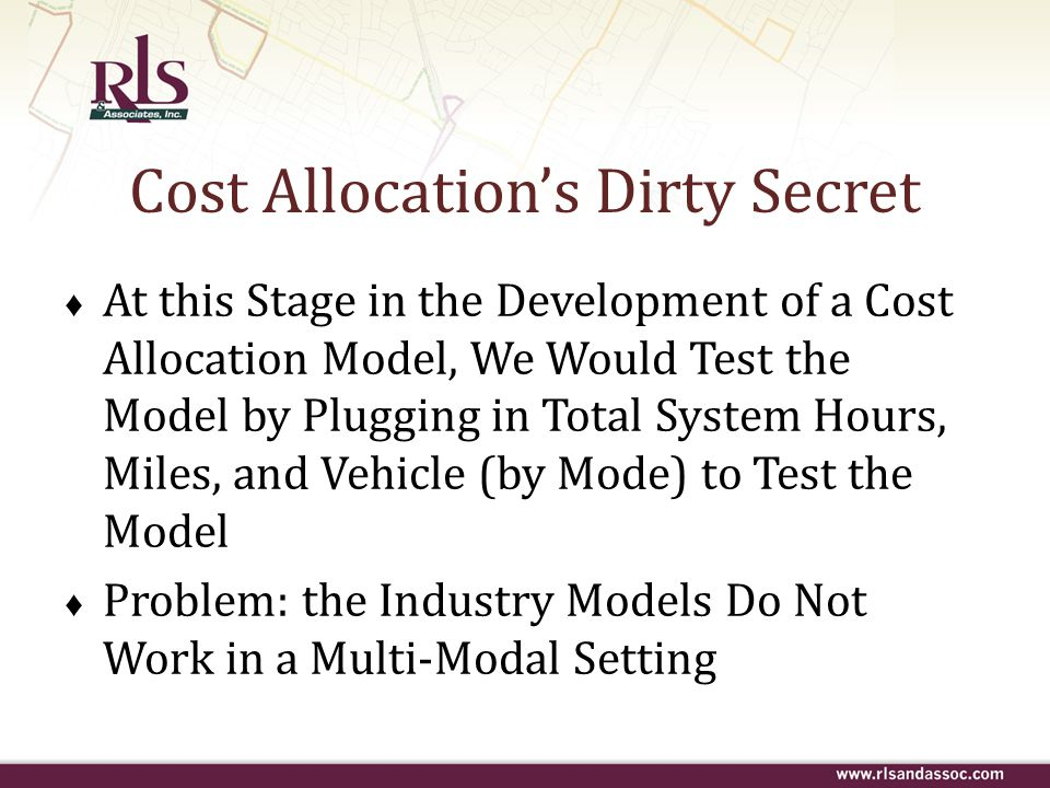 Cost Allocation's Dirty Secret