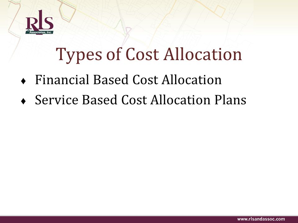 Types of Cost Allocation